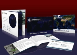 Elementa: Collateral Design: Full color with die cut and lenticular insert