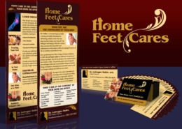Home Feet Cares: Branding, rack cards & business cards