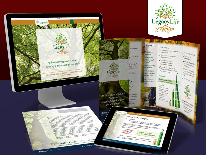 Legacy Life: Branding, collateral & website landing page