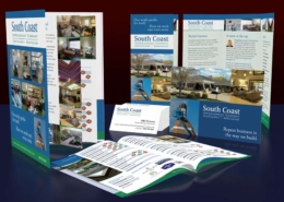 South Coast Improvement Co.: Pocket folder with 4 page insert, sell sheets, & business cards