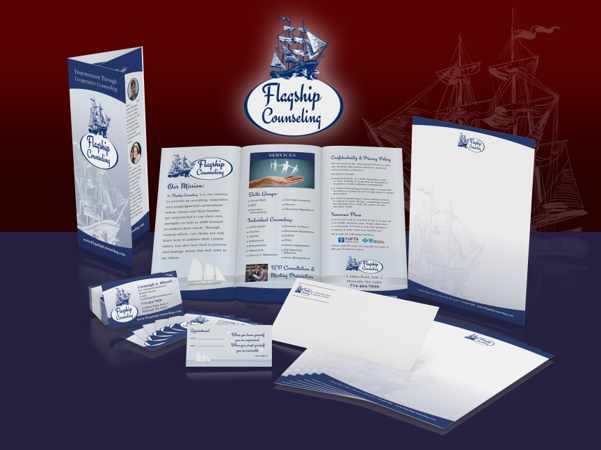 Flagship Counseling: Branding & Print Collateral